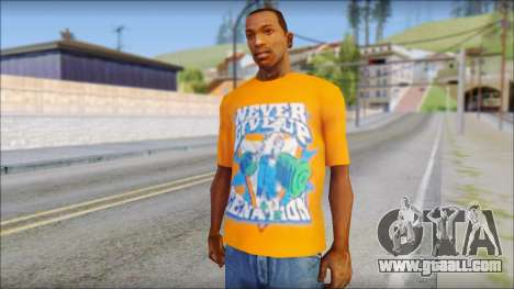 John Cena Orange T-Shirt for GTA San Andreas
