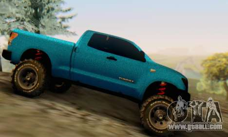 Toyota Tundra OFF Road Tuning Blue Star for GTA San Andreas left view