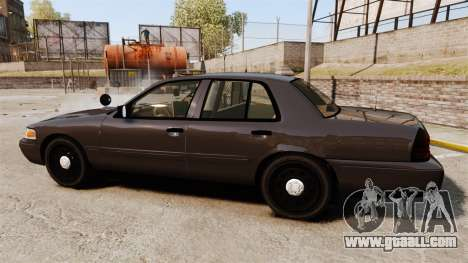 Ford Crown Victoria Sheriff [ELS] Unmarked for GTA 4 left view