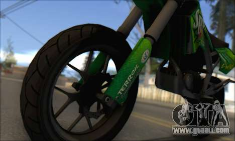Sanchez from GTA V - Supermoto for GTA San Andreas back left view