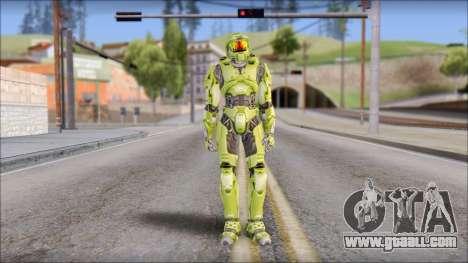 Masterchief Green from Halo for GTA San Andreas second screenshot
