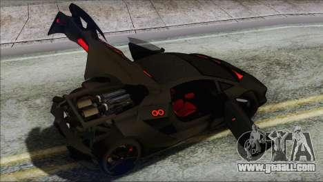 Lamborghini Sesto Elemento Concept 2010 for GTA San Andreas interior