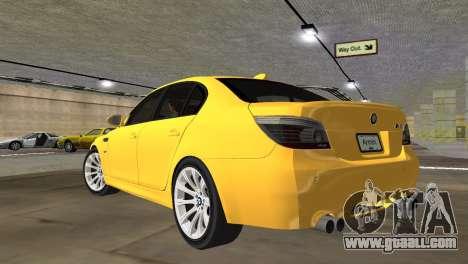 BMW M5 E60 for GTA Vice City left view