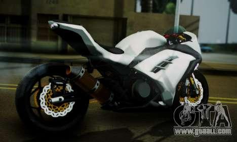 Kawasaki Ninja 250 fi for GTA San Andreas left view