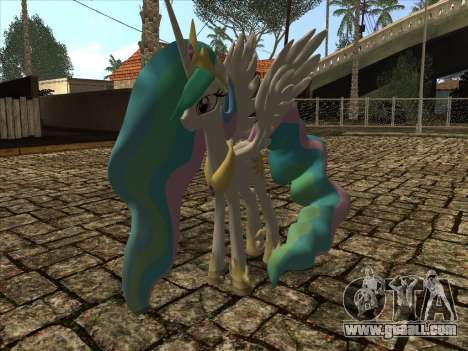 Princess Celestia for GTA San Andreas