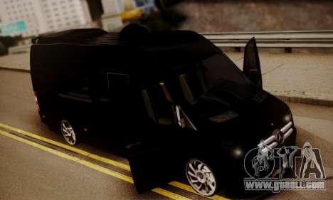 Mercedes-Benz Sprinter 315 CDi for GTA San Andreas inner view