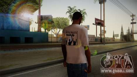 All You Need Is Hands Up T-Shirt for GTA San Andreas second screenshot