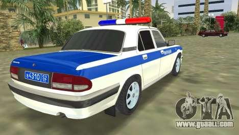 GAZ 31105 Volga DPS for GTA Vice City left view