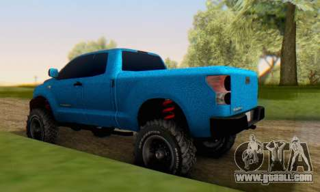 Toyota Tundra OFF Road Tuning Blue Star for GTA San Andreas back left view