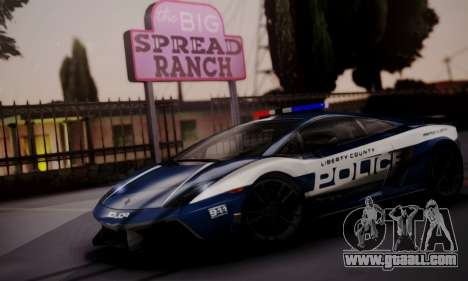 Lamborghini Gallardo LP 570-4 2011 Police v2 for GTA San Andreas inner view