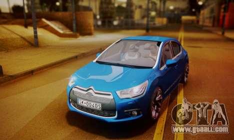 Citroen DS4 2012 for GTA San Andreas