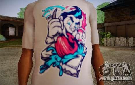 Nick Automatic T-Shirt for GTA San Andreas third screenshot
