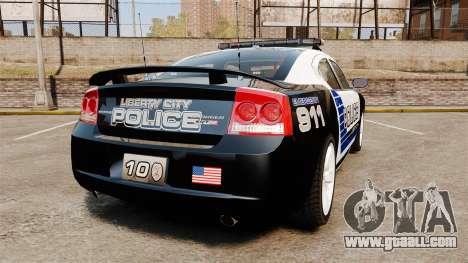 Dodge Charger SRT8 2010 [ELS] for GTA 4 back left view