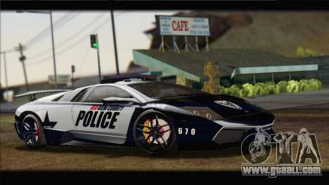 Lamborghini Murcielago LP670 SV Police for GTA San Andreas right view