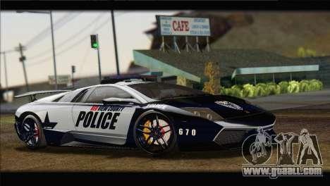 Lamborghini Murcielago LP670 SV Police for GTA San Andreas right view