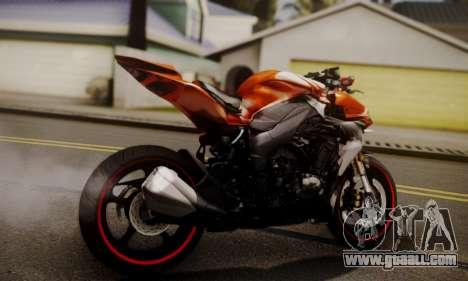 Kawasaki Z1000 2014 for GTA San Andreas left view