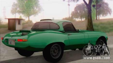Jaguar E-Type for GTA San Andreas left view