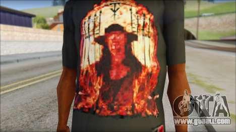 Undertaker T-Shirt for GTA San Andreas third screenshot