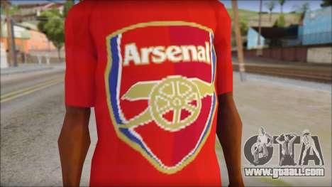 Arsenal T-Shirt for GTA San Andreas third screenshot