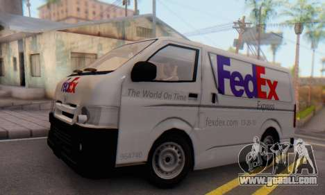 Toyota Hiace FedEx Cargo Van 2006 for GTA San Andreas back left view