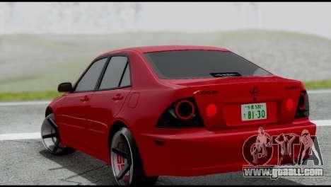 Lexus IS300 Vossen for GTA San Andreas left view