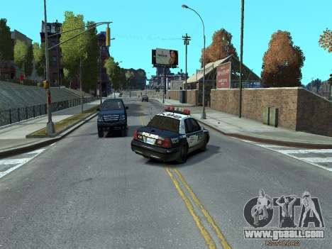 Ford Crown Victoria Police NYPD 2014 for GTA 4 right view