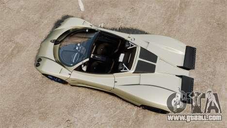 Pagani Zonda C12S Roadster 2001 v1.1 PJ1 for GTA 4 right view