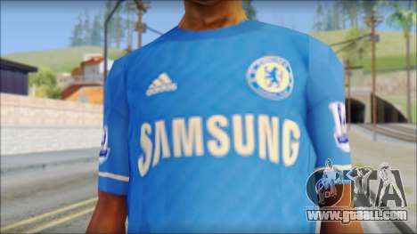 Chelsea FC 12-13 Home Jersey for GTA San Andreas third screenshot