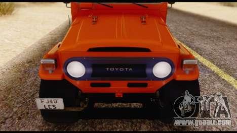 Toyota Land Cruiser (FJ40) 1978 for GTA San Andreas side view