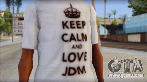 JDM Keep Calm T-Shirt for GTA San Andreas third screenshot