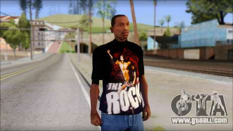 WWE The Rock T-Shirt for GTA San Andreas