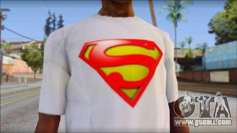 Superman T-Shirt for GTA San Andreas third screenshot