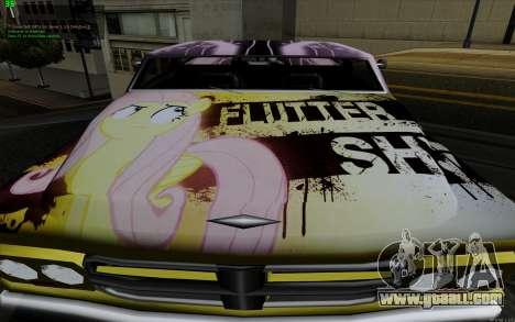 Paint work for Slamvan MLP Fluttershy for GTA San Andreas