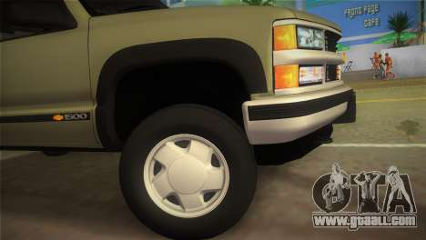 Chevrolet Suburban 1996 GMT400 for GTA Vice City back left view
