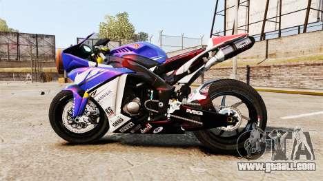 Yamaha YZF-R1 PJ1 for GTA 4 left view
