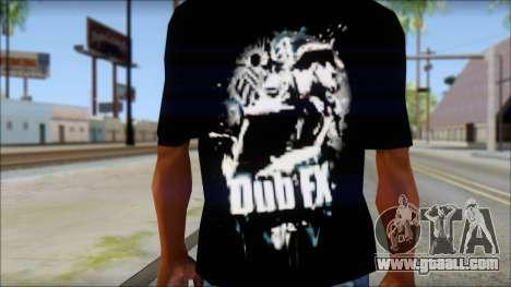Dub Fx Fan T-Shirt v1 for GTA San Andreas third screenshot
