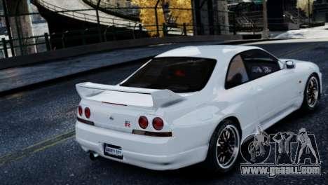 Nissan Skyline R33 1995 for GTA 4 back view