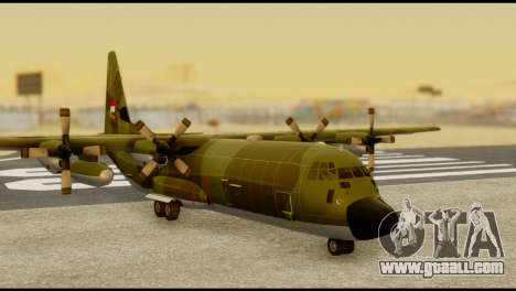C-130 Hercules Indonesia Air Force for GTA San Andreas back left view