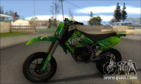 Sanchez from GTA V - Supermoto for GTA San Andreas