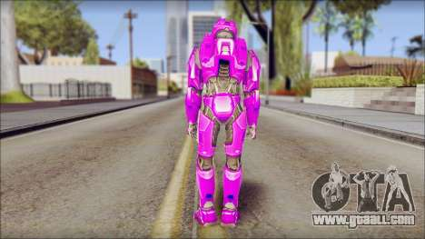 Masterchief Purple from Halo for GTA San Andreas second screenshot