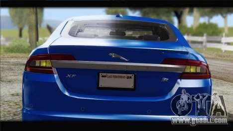 Jaguar XFR v1.0 2011 for GTA San Andreas inner view