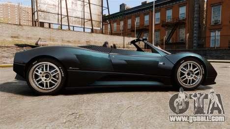 Pagani Zonda C12S Roadster 2001 v1.1 PJ3 for GTA 4 left view