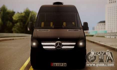 Mercedes-Benz Sprinter 315 CDi for GTA San Andreas back left view