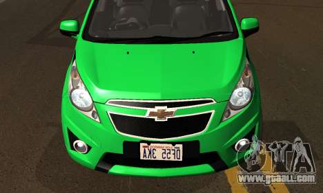 Chevrolet Spark 2011 for GTA San Andreas side view