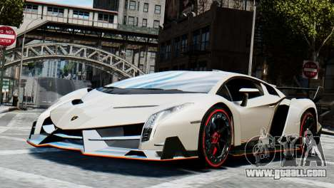Lamborghini Veneno 2013 for GTA 4 back left view