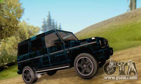 Mercedes-Benz G65 Black Square Pattern for GTA San Andreas left view