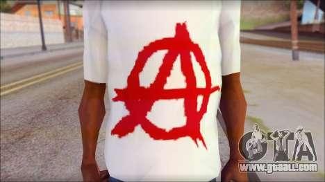 Anarchy T-Shirt v3 for GTA San Andreas third screenshot