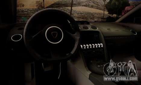 Lamborghini Gallardo LP 570-4 2011 Police v2 for GTA San Andreas engine