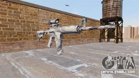 Automatic carbine MA Grey cane Camo for GTA 4