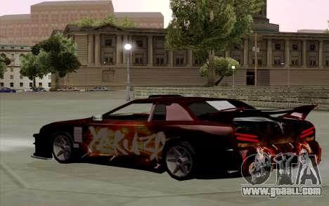 Paint work for Yakuza Elegy for GTA San Andreas back left view